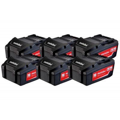 Metabo 625152000 - aku set Li-Power 6x18 V/5,2Ah